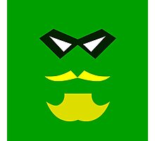 Minimalist Green Arrow Photographic Print
