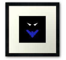 Minimalist Nightwing Framed Print