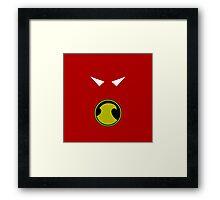 Minimalist Red Robin Framed Print