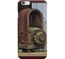 Old Machinery Found in Wisconsin Dairy Barn iPhone Case/Skin