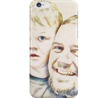 Dad and His Boy iPhone Case/Skin