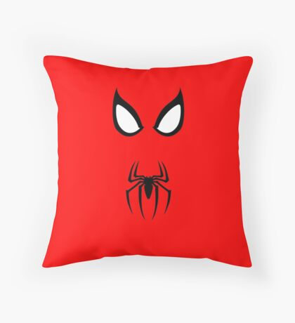 Minimalist Spider-Man Throw Pillow