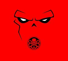 Minimalist Red Skull by Ryan Heller