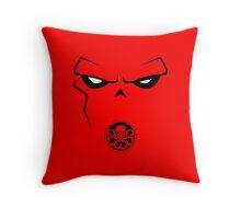 Minimalist Red Skull Throw Pillow