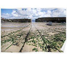 Empty Harbour - Mousehole Poster