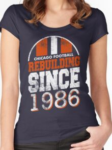 Chicago Football Rebuilding Women's Fitted Scoop T-Shirt