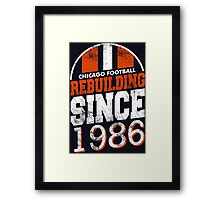 Chicago Football Rebuilding Framed Print