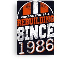 Chicago Football Rebuilding Canvas Print