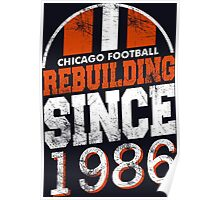 Chicago Football Rebuilding Poster