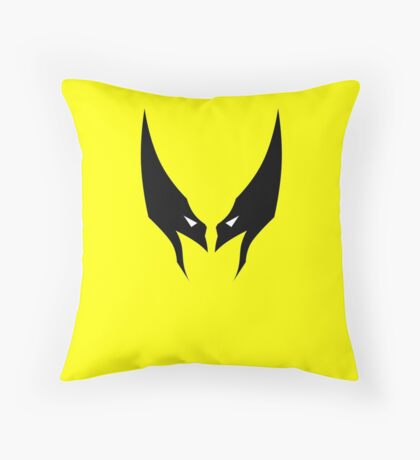 Minimalist Wolverine Throw Pillow