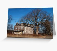 Old Monroe Township Police Station Greeting Card