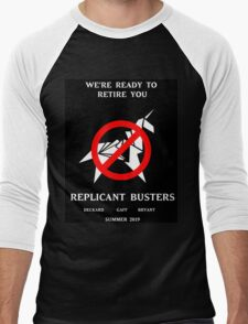 Blade Runner Ghostbuster spoof Men's Baseball ¾ T-Shirt
