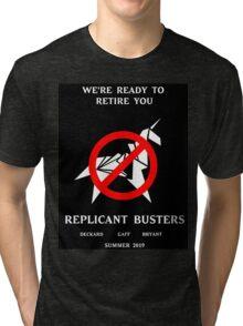 Blade Runner Ghostbuster spoof Tri-blend T-Shirt