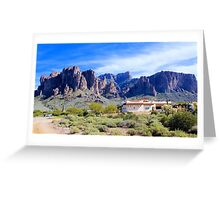 East  Superstition  Mountain Greeting Card