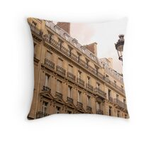 On the Rue Throw Pillow