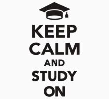 Keep calm and study on Baby Tee