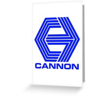 Cannon Films logo Greeting Card