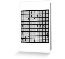 Sudoku Greeting Card