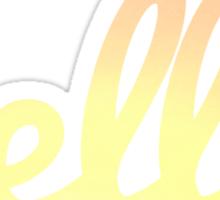 hella letters Sticker