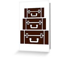 Suitcases luggage Greeting Card