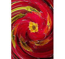 Red Primrose Swirl Photographic Print