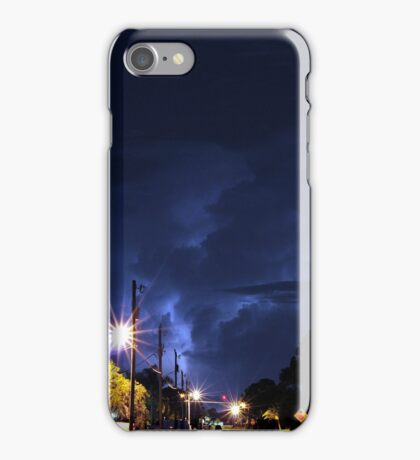 Lightning in the night. iPhone Case/Skin