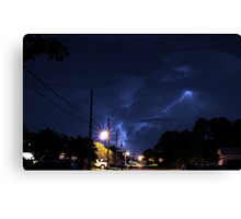 Lightning in the night. Canvas Print