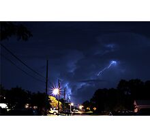 Lightning in the night. Photographic Print