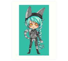 Electric Kitten Art Print