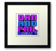 DAN AND PHIL GAMES Framed Print