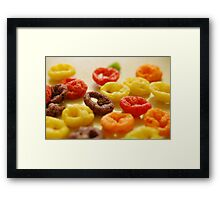 Spilled Cereal Framed Print