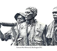 Vietnam War Memorial  - 3 soldiers by Carole Andreas