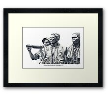 Vietnam War Memorial  - 3 soldiers Framed Print