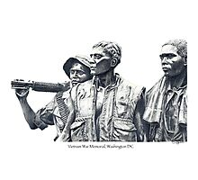 Vietnam War Memorial  - 3 soldiers Photographic Print