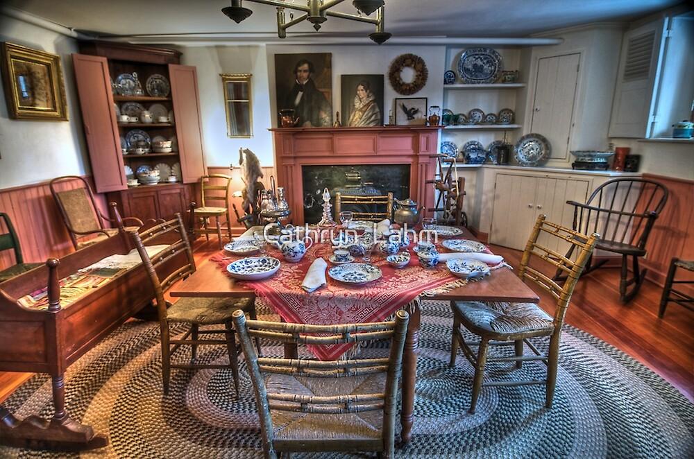Underground Railroad Kitchen 1800s by Cathryn  Lahm