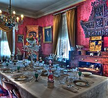 Dining Room 1800s Home by Cathryn  Lahm
