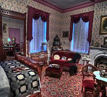 Ladies' Elegant Bed Room 1800's Home  by Cathryn  Lahm