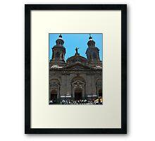 Santiago Cathedral, Palza De Armas, Chile Framed Print