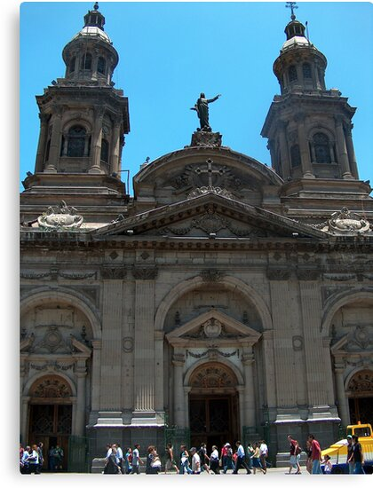 Santiago Cathedral, Palza De Armas, Chile by Martyn Baker | Martyn Baker Photography