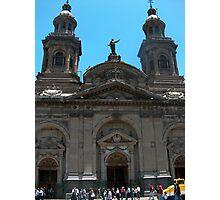 Santiago Cathedral, Palza De Armas, Chile Photographic Print