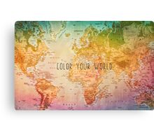 Color your World Canvas Print