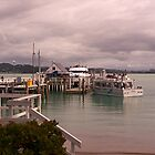 The busy little harbour of Russell.......! by Roy  Massicks