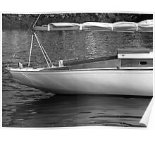Sailboat Stern View 1 Poster