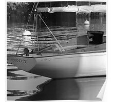 Sailboat Stern View 2 Poster