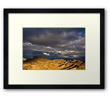Dramatic Clouds at Sunrise in Death Valley Framed Print