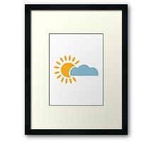 Sky sun cloud Framed Print