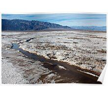 Salt Flats in Death Valley Poster