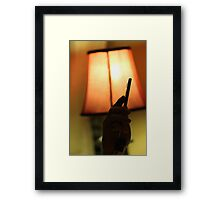 Sleep-Texting Framed Print