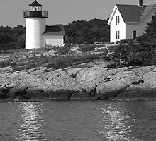 Curtis Island Lighthouse Camden Maine by Mary-Anne Ganley