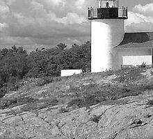Curtis Island Lighthouse Camden Maine 2 by Mary-Anne Ganley